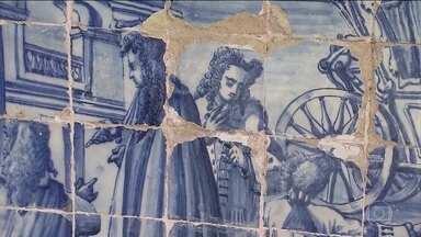 Painéis de azulejos do século XVIII estão em situação de abandono em Salvador - Até hoje, os painés da igreja e do convento da Ordem Terceira de São Francisco só passaram por uma grande restauração.
