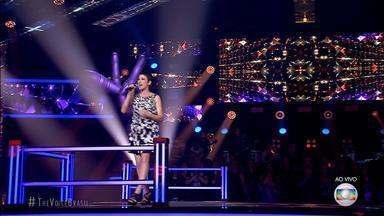 Rê Adegas se despediu do The Voice Brasil na noite desta terça-feira (04) - Apesar da cantora gaúcho ter arrancado elogios dos jurados, Rê Adegas perdeu na votação do público.