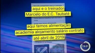 Esporte Clube Taubaté está apurando denúncias de casos de estelionato - O golpista se identifica como treinador do clube.