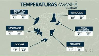 Quinta-feira terá manhã fria e leve calor à tarde no Noroeste - A quinta-feira, 06, deve ser o último dia da onda de frio que começou no domingo.