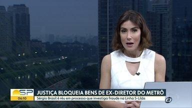 Ex-diretor do Metrô tem bens bloqueados - Justiiça investiga fraudes em obras da Linha5-Lilás.