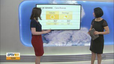 Confira a previsão de tempo para o fim de semana na região - Confira a previsão de tempo para o fim de semana na região