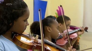 Projetos levam música e esporte para ajudar a enfrentar a violência em Vitória - Resgate da cidadania nessas comunidades ajudam no enfrentamento.