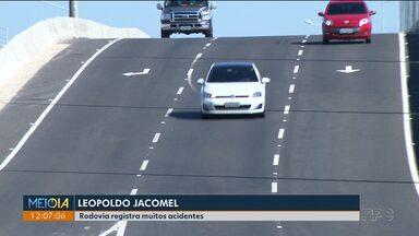Rodovia Leopoldo Jacomel registou 66 acidentes desde o começo do ano - Ontem o Corpo de Bombeiros atendeu a duas ocorrências.