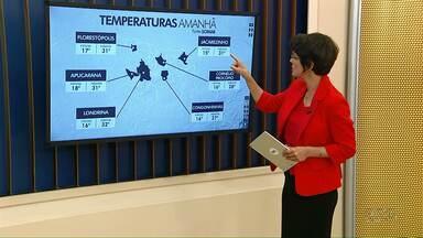 Sábado (8) começa com 16 graus em Londrina - Temperatura máxima passa dos 30 graus.