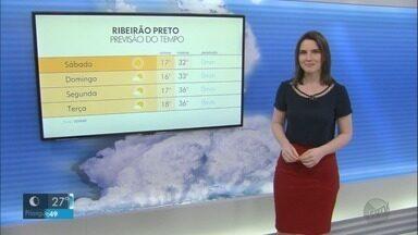 Veja a previsão do tempo para o fim de semana na região de Ribeirão Preto - Não há chance de chuva e faz muito calor.