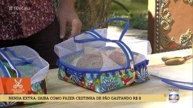 Aprenda a fazer cestinhas de pão gastando menos de 10 reais - Lívia Zorzi aceita o desafio 'Se Vira com15' e dá ideia para uma renda extra