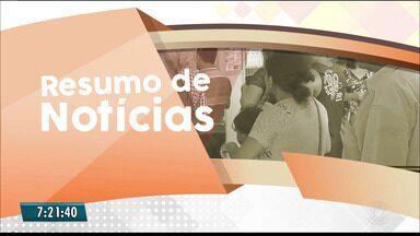 Confira o Resumo das Notícias do Bom Dia Paraíba nesta segunda-feira - Veja as principais notícias de hoje.