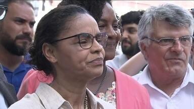 Marina Silva faz campanha em Salvador - A candidata da Rede deu entrevista para uma TV local e depois se encontrou com militantes do partido e moradores.