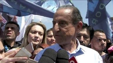 Paulo Skaf faz campanha na Região Metropolitana - Paulo Skaf, candidato do MDB, fez campanha em duas cidades da Região Metropolitana.