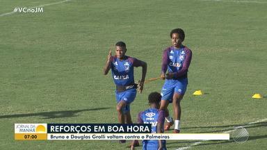 Bahia: Douglas Groli e Bruno voltam a jogar contra o Palmeiras - Veja os destaques do tricolor baiano.