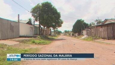 Bairro da Zona Oeste de Macapá tem 55 casos confirmados de malária em 2018 - Preocupação é com o período sazonal, quando o clima facilita e aumenta o contágio da doença. Bairros Congós e Infraero 2 também têm registros da doença, segundo a Semsa.