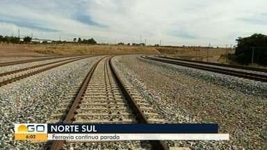Trecho da Ferrovia Norte-Sul que começou a ser contruído há 30 anos segue inconcluído - Já foram gastos bilhões na obra.