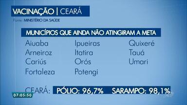 Ceará ainda tem munincípios que não atingiram meta em campanha de vacinação - Saiba mais em g1.com.br/ce