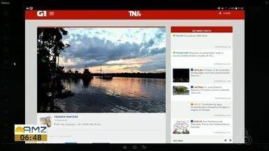 Tô na Rede: internauta registra pôr do sol em Oiapoque - Envie fotos da sua região para o Tô na Rede.
