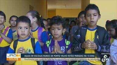 Aulas de escolas rurais de porto velho estão paradas há 15 dias - Paralisação por conta de falta de transporte fluvial prejudica centenas de estudantes.