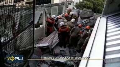 Parte de marquise de hospital cai e mata uma pessoa no Maracanã - Desabamento aconteceu no fim da tarde desta quinta-feira (13) na Zona Norte da cidade.