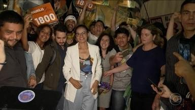 Candidata da Rede, Marina Silva, faz campanha em Brasília e São Paulo - Jornal Nacional mostra como foram as atividades de campanha de candidatos à presidência nesta quinta-feira (13).