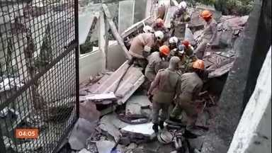 Desabamento de laje de hospital desativado deixa um morto e seis feridos no RJ - A perícia investiga se uma obra irregular estava sendo feita no local.