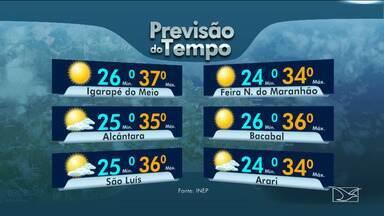 Veja as variações das temperaturas no Maranhão - Segundo a previsão do tempo, a sexta-feira (14) será de sol em grande parte do estado.