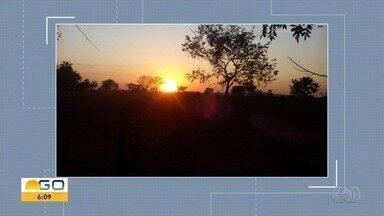 Telespectadores enviam fotos para o Bom Dia Goiás - Eles acordam cedinho para acompanhar o telejornal.
