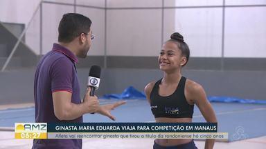 Ginasta de Rondônia irá participar de competição em Manaus - Maria Eduarda é destaque na ginástica rítmica.