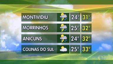 Confira a previsão do tempo em Goiás - Veja como fica o tempo em Morrinhos e Anicuns.