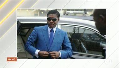 Vice-presidente da Guiné Equatorial vai embora do Brasil sem levar joias apreendidas - O vide-presidente da Guiné Equatorial partiu do Brasil de forma rápida e discreta sem levar as joias e o dinheiro apreendidos logo que ele chegou ao país. O avião que levava Teodoro Obiang chegou ao Brasil na sexta (14).