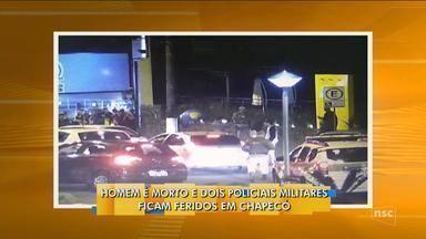 Homem é morto a tiros em confronto com a Polícia Militar em Chapecó - Homem é morto a tiros em confronto com a Polícia Militar em Chapecó