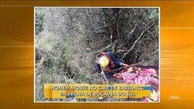 Homem morre ao cair de barranco em trilha de Bocaína do Sul - Homem morre ao cair de barranco em trilha de Bocaína do Sul