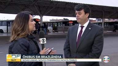 DFTrans faz mudanças no transporte público em Brazlândia - Cidade passa a contar com novas linhas, novos itinerários e ônibus maiores. Uma das propostas é a de integração com o metrô. As alterações foram feitas no sábado e, já no fim de semana, passageiros reclamaram.