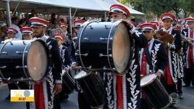 Evento reúne grupos de bandas e fanfarras em Presidente Prudente - Pessoas até de outros Estado participaram.
