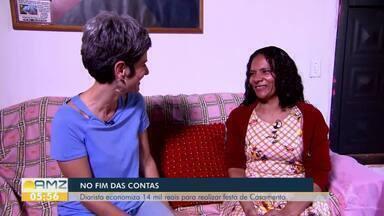 Diarista economiza 14 mil, em 4 meses, para fazer festa de casamento - Quadro No Fim das Contas