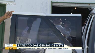 Ivete Sangalo batiza filhas gêmeas em igreja de Salvador - Saiba mais detalhes sobre a cerimônia.