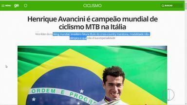 Henrique Avancini é campeão mundial de Mountain Bike - Assista a seguir.