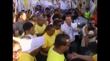 Confira a agenda de compromissos dos candidatos ao governo do Pará, nesta segunda (17) - Os candidatos realizaram caminhadas e comícios na capital e interior do estado
