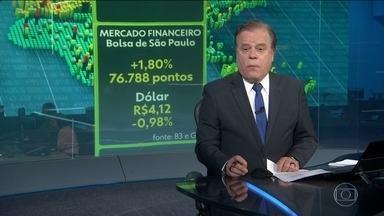 Dólar volta a bater em R$ 4,20, mas cede e fecha a R$ 4,12 - Mercado financeiro está preocupado com o cenário eleitoral no Brasil e também com guerra comercial dos EUA com a China.