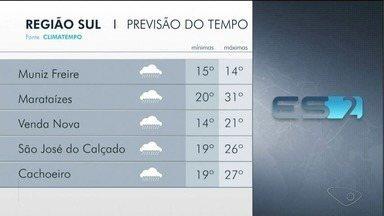 Região Sul do ES tem alerta de chuva e ventos - Região Sul do ES tem alerta de chuva e ventos.