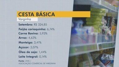 Pesquisa aponta que sete de 13 produtos da cesta básica tiveram alta no preço em Varginha - Pesquisa aponta que sete de 13 produtos da cesta básica tiveram alta no preço em Varginha