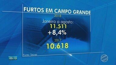 Cresce em 8% número de furtos em Campo Grande - Polícia garante que está trabalhando no combate e pede para que vítimas registrem as ocorrências.