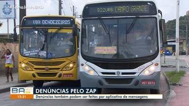Polícia Civil lança novo sistema de denúncia de assaltos a ônibus em Salvador - Os materiais poderão ser enviados através do aplicativo de mensagens Whatsapp.