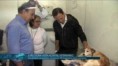 João Doria (PSDB) faz campanha em Tatuapé - João Doria, candidato do PSDB ao governo de SP, fez campanha num hospital veterinário público, em Tatuapé.