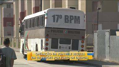 Operação contra furto de energia em Joinville prende 38 pessoas em residencial - Operação contra furto de energia em Joinville prende 38 pessoas em residencial