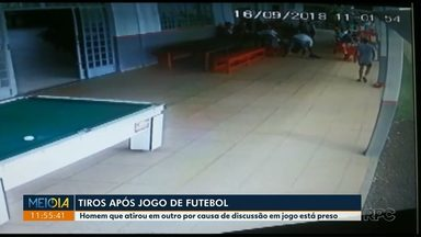Está preso homem que atirou contra um rapaz por causa de uma partida de futebol - O crime foi registrado por câmeras de segurança