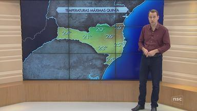 Confira a previsão do tempo para Santa Catarina - Confira a previsão do tempo para Santa Catarina