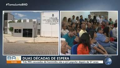 Policiais acusados de homícidio vão a júri popular em Juazeiro, norte do estado - Os PM's são acusados da morte do metalúrgico Nivaldo da Silva.