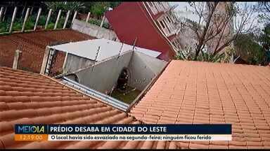 Prédio residencial desaba em Cidade do Leste - Os moradores, entre eles vários brasileiros, já haviam deixado o imóvel por causa de risco de desabamento.
