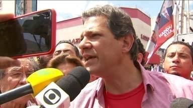 Fernando Haddad não tem atividade de campanha nesta quinta-feira (20) - O candidato do PT não teve compromissos na manhã desta quinta-feira (20). Ele esteve em Guarulhos, São Paulo, na quarta-feira (19).
