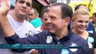 João Doria (PSDB) faz campanha no ABC Paulista - João Doria, candidato ao governo de SP pelo PSDB, faz campanha no ABC Paulista.