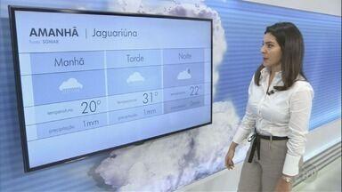 Confira a previsão do tempo nesta sexta-feira em Campinas e região - Em Jaguariúna, as temperaturas chegam aos 31°C.